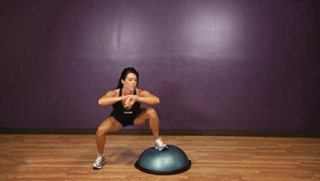 Bosu Hop Squats